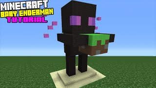 Minecraft Tutorial: How To Make A Baby Enderman Statue