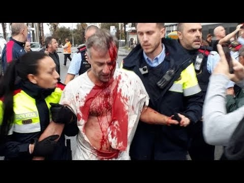 Barcelona Clashes video | Catalan referendum clashes | Barcelona Voters clashes