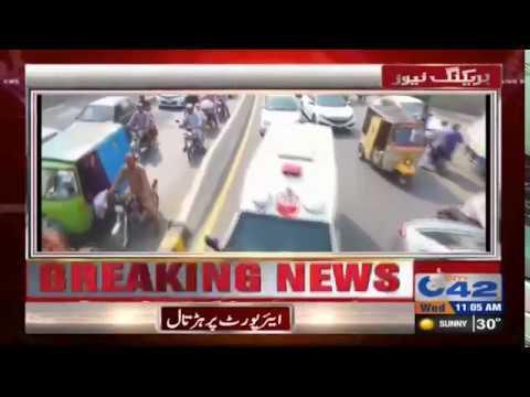 شاہراہ فاطمہ جناح پر ٹریفک کا شدید دباؤ