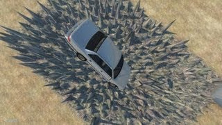 BeamNG Drive Alpha Crash Testing Stairway To Hell&Pit Of Death #7 HD