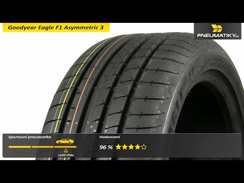 Youtube Goodyear Eagle F1 Asymmetric 3 225/45 R17 94 Y XL FR Letní