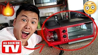 Video THIS INSTANTLY TURNS ANYTHING EDIBLE!!!!! *STARTED A FIRE GONE WRONG* (TESTING CRAZY GADGETS) MP3, 3GP, MP4, WEBM, AVI, FLV Oktober 2018