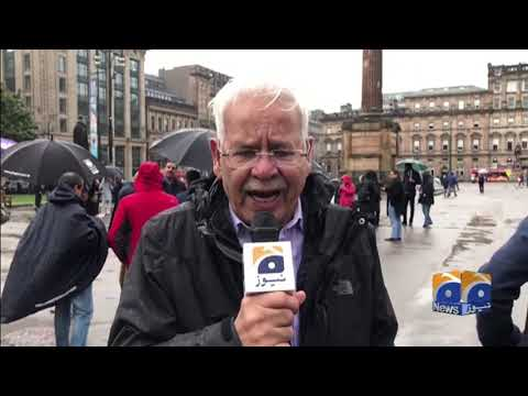 Glasgow stages protest against Indian atrocities in Occupied Kashmir