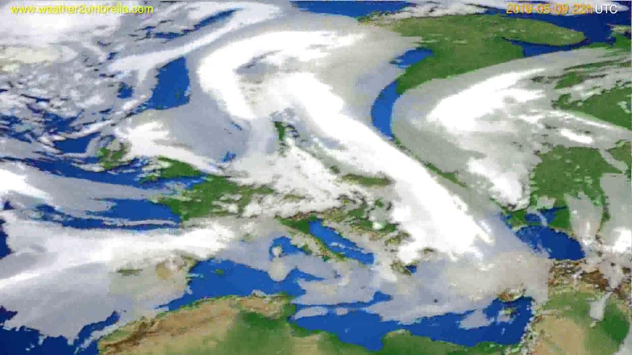 Cloud forecast Europe // modelrun: 12h UTC 2019-05-06