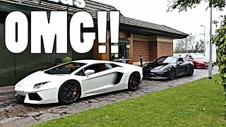 LAMBORGHINI AND PORSCHE CRUISE THROUGH GRIMSBY!! by Supercars of London