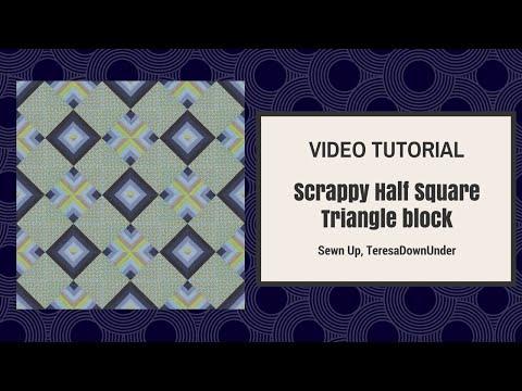 patchwork - blocco trapunta con triangoli