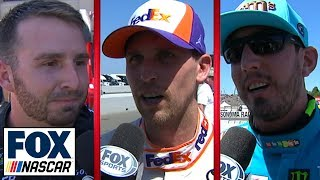 Blaney, Busch, DiBenedetto, & Hamlin comment on top five runs in Sonoma | NASCAR on FOX by FOX Sports
