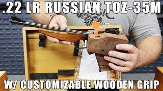 Russian .22 LR TOZ-35M With Customizable Wooden Grip