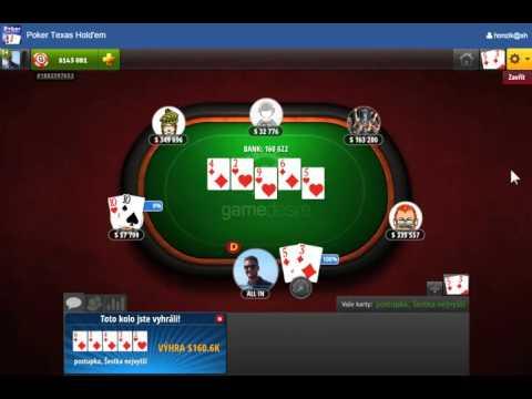 Poker Texas Hold'em - ukázka ze hry Superhry.cz