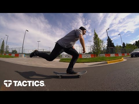 How to Skateboard for Beginners | Footing, Pushing, Stopping, Turning, Cracks & Curbs | Tactics
