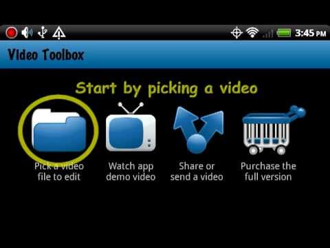 Video of Video Toolbox editor (trial)