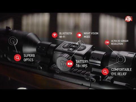 ATN X-Sight 4K PRO Smart Ultra HD Day and Night Hunting Rifle Scope with camera