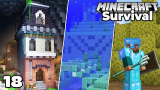 Let's Play Minecraft Survival : Village Library & Ocean Monument Adventure!
