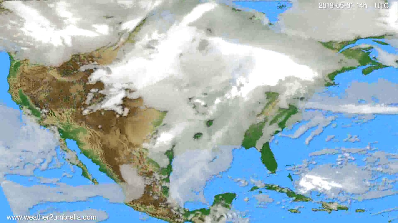 Cloud forecast USA & Canada // modelrun: 00h UTC 2019-04-29