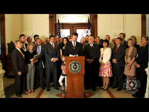 Gov. Perry Backs Resolution Affirming Texas Sovereignty Under 10th Amendment - Part 1