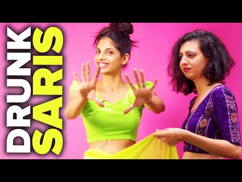 Drunk Indian Women Try To Put On Saris