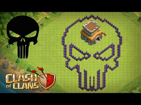 Clash Of Clans - Layout Cv8 ''justiceiro''