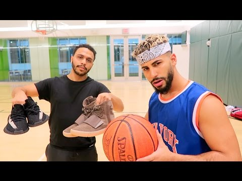 1 on 1 BASKETBALL GAME FOR 2 PAIRS OF YEEZYS!!!! (видео)