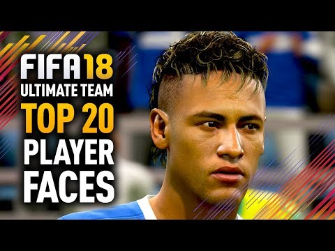 FIFA 18 ULTIMATE TEAM TOP 20 PLAYER FACES w/ RONALDO, MESSI & NEYMAR! (видео)