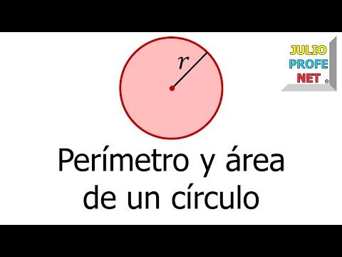 Perimetro y área de un círculo