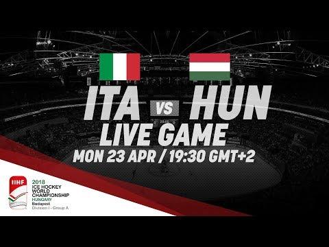 Italy - Hungary | Live | 2018 IIHF Ice Hockey World Championship Division I Group A (видео)