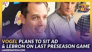 Lakers Post Practice: Vogel Plans To Sit AD & LeBron On Final Preseason Game Against The Warriors by Lakers Nation