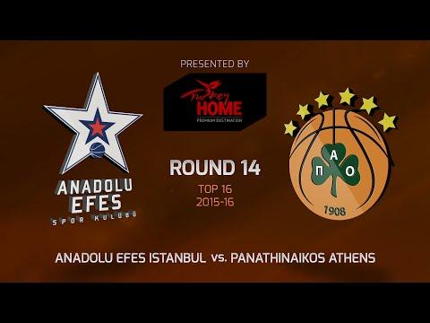 Highlights: Top 16, Round 14, Anadolu Efes Istanbul 91-86 Panathinaikos Athens