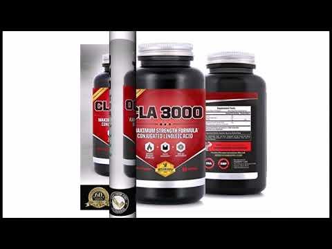 LA Safflower Oil | CLA 3000 Maximum Potency Conjugated Linoleic Acid for Enhanced MetabolismWeight