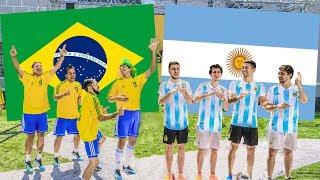 Video Argentina vs Brasil | PARTIDO en CANCHA de 5 MP3, 3GP, MP4, WEBM, AVI, FLV Juli 2018