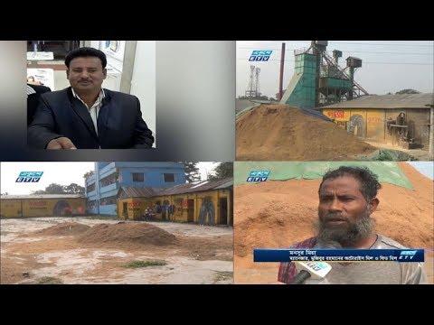 ময়মনসিংহ সদরের চুরখাইয়ে খাল দখল করে অবৈধ স্থাপনা