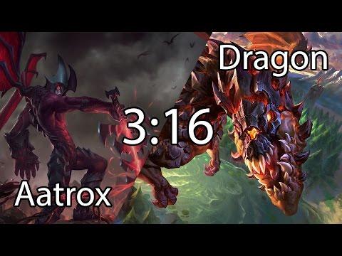 League of Legends  DRAGON CHALLENGE  Aatrox Vs Dragon