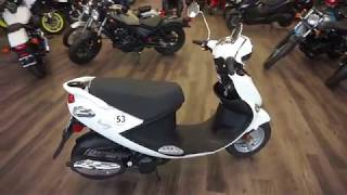 7. 2018 Genuine Scooter Co Buddy 125 in White at Maxeys in Oklahoma City