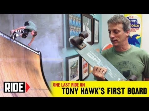 Tony Hawk   Final Ride On His First Skateboard