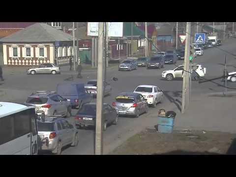 Аваривая с велосипедистом в Омске