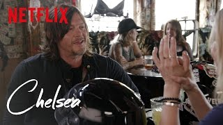 Video The Walking Dead's Norman Reedus Takes Chelsea for a Ride | Chelsea | Netflix MP3, 3GP, MP4, WEBM, AVI, FLV Agustus 2018