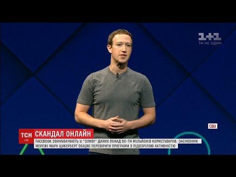 Засновник Facebook вибачився перед користувачами соцмережі за втрату їхніх персональних даних