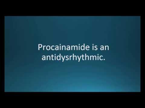How to pronounce procainamide (Procanbid) (Memorizing Pharmacology Video Flashcard)
