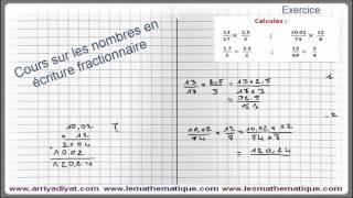 Maths 5ème - Les nombres en écriture Fractionnaire Exercice 7