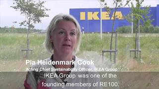 Pia Heidenmark Cook, Acting Chief Sustainability Officer, IKEA Group talks about the RE100 initiative where 100 leading businesses are committed to 100% renewable power.Brought to you by The Climate Group in partnership with CDP, as part of the We Mean Business coalition, RE100 is a global, collaborative initiative of influential businesses committed to using 100% renewable electricity. This will accelerate the transformation of the global energy market and aid the transition toward a low carbon economy.RE100 was officially launched at Climate Week NYC 2014. Today, RE100 brings together leading companies from all over the world, spanning a wide range of sectors, such as telecommunications, ICT, home furnishing, clothing, food, banking and insurance.