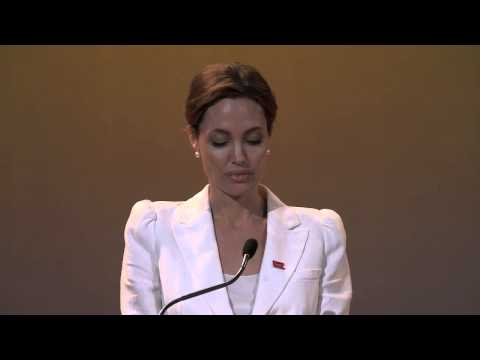 UN Special Envoy Angelina Jolie speech at opening of Summit Fringe