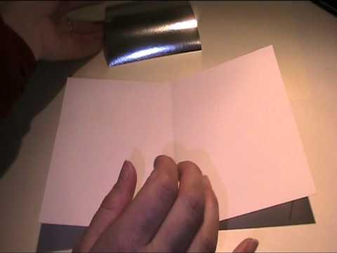 Teil 4 Glückwunschkarte mit Taube basteln - Bastelvideo