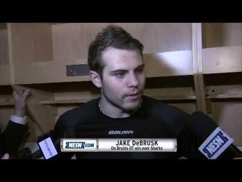 Video: Jake DeBrusk picks up three points in Bruins OT win over Sharks