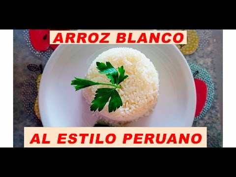 ARROZ BLANCO | RECETA PERUANA |  WHITE ON RICE  | ALBIÑAFE COELLO 🍚