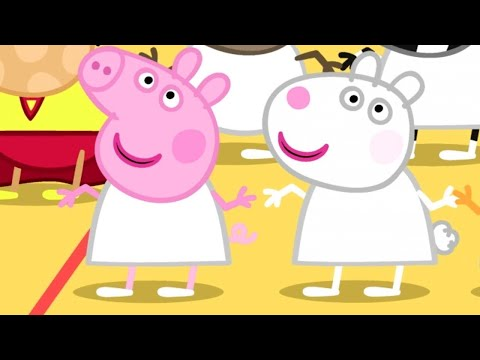 Peppa Pig English Episodes  Peppa Pig's with Suzy Sheep  2 hour Special  Peppa Pig Official