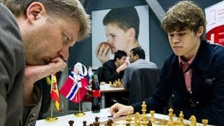 Magnus Carlsen vs. Alexei Shirov - Biel 2011 - Meran Defense Chess