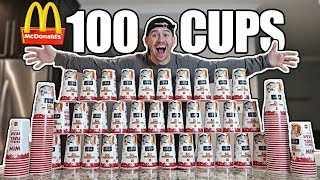 Video 100 MCDONALD'S CUPS EXPERIMENT!! *MONOPOLY JACKPOT CHALLENGE* MP3, 3GP, MP4, WEBM, AVI, FLV Januari 2018