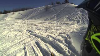7. 2014 Ski Doo Renegade backcountry playing in a pit