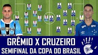 Cruzeiro e Grêmio se enfrentam nesta quarta-feira, a partir das 21h45, em Porto Alegre, pela primeira partida das semifinais da...