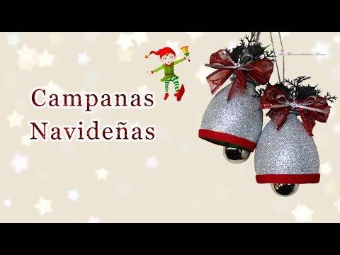 diy - campane natalizie con materiale di riciclo