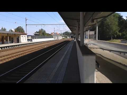 Příjezd pendolina do stanice Stříbro